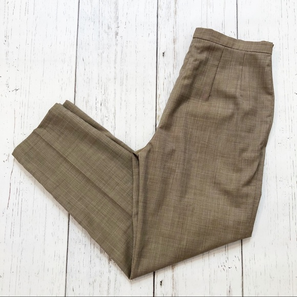 MaxMara brown high rise dress slacks/pants wool 8